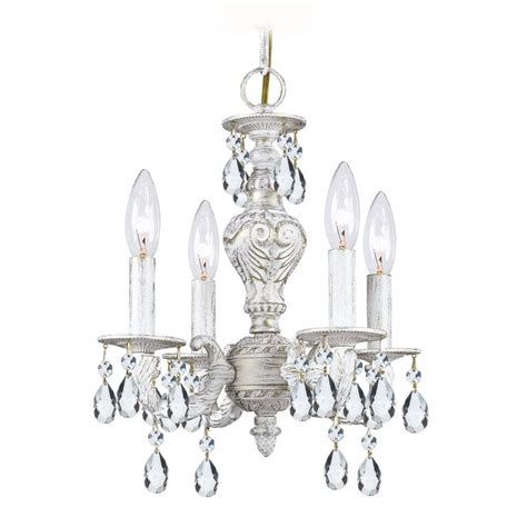 Small Chandeliers by Mini Chandelier In Antique White Finish 5024 Aw