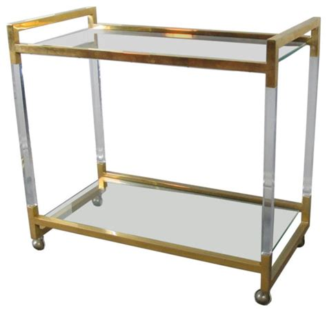 houzz bar cart lucite bar cart modern bar carts by 1stdibs