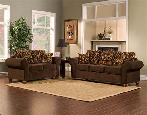 two piece couch set 2 piece brown sofa set with flowery gold pattern