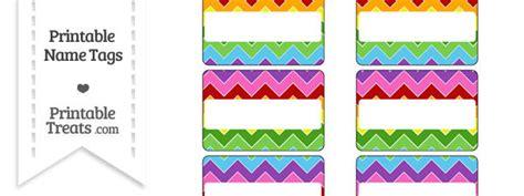printable rainbow name tags rainbow chevron name tags printable treats com