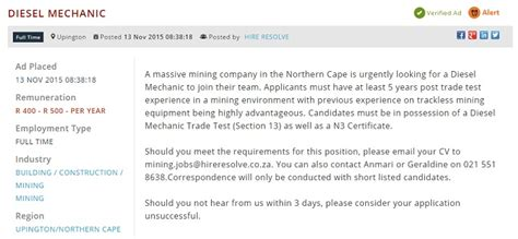 section 13 trade test job opportunities in south africa s growing industries