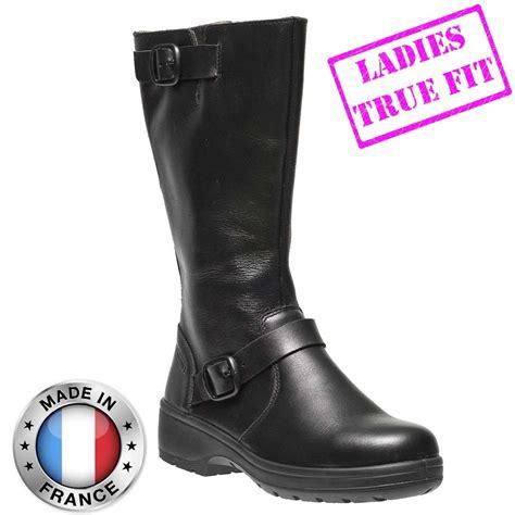 Caterpillar Safety Black High delia fitting high leg fashion black leather s3 src