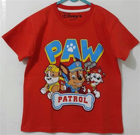 Kaos Anak Paw Patrol Pawp 02 kaoa paw patrol merah 1 6 disney grosir eceran baju
