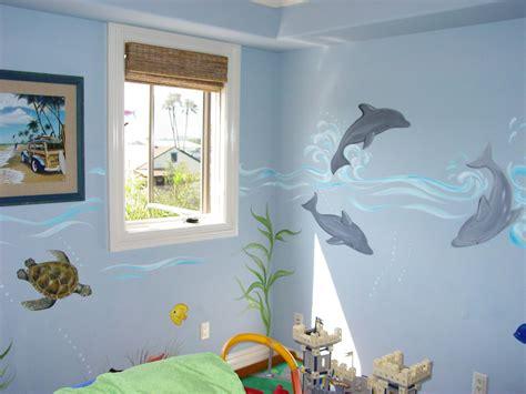 dolphin bedroom decor surfer dude boy s room decor mural sugarmanart