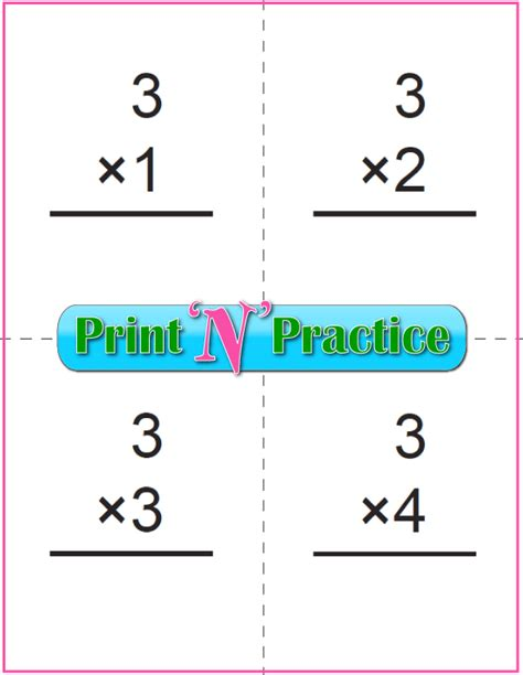 printable math index cards 70 fun multiplication worksheets charts flash cards