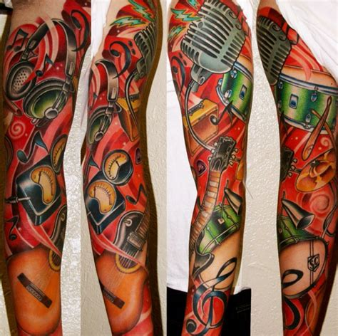 musical instruments tattoo designs top 9 themed ideas part 3