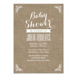 rustic baby shower invitations announcements zazzle