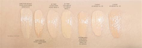 Brightening Illuminating Sunscreen Beige Promo7 the lookbook swatches inc by terry make up