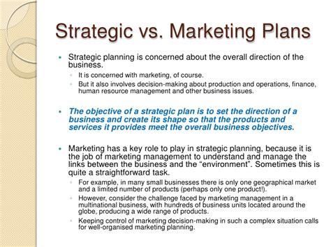 Strategic Business Marketing developing a strategic business plan