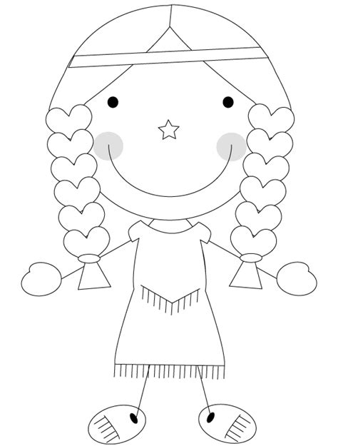 the gallery for gt indian girl coloring pages