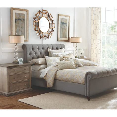 home decorators headboards home decorators collection gordon grey sleigh bed 2309800270 the home depot