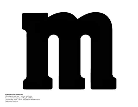 m m logo template i made up some iron ons for an m m costume