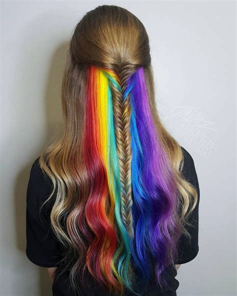 rainbow hair colors steel winter rainbow hair colors ideas of rainbow hair