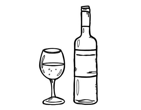 dibujos realistas botella dibujo de botella de vino y copa para colorear dibujos net