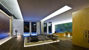 Upholstered platform bed interior design ideas