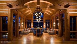 Log Cabin Master Bathrooms House Of The Week Montana Mansion Built Lincoln Log Style