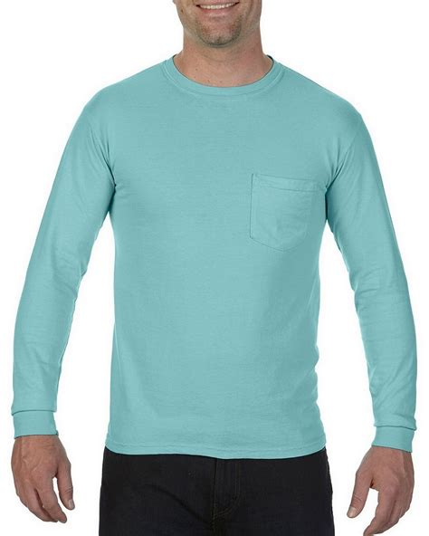 comfort colors chalky mint comfort colors c4410 sleeve pocket t shirt
