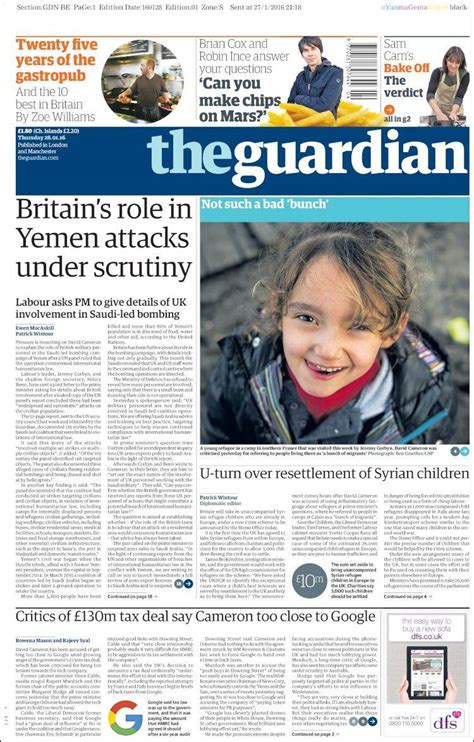 top 28 the guardian edition newspaper the guardian