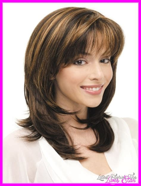 Medium Hairstyles For Hair Bangs by Medium Length Haircuts No Bangs Layers Livesstar