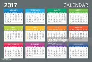 Kalender Englisch Englisch Kalender 2017 Vektorgrafik Getty Images
