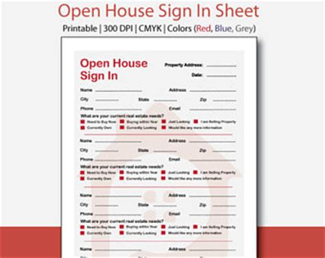 open house registration form real estate open house sign in sheet best seller real estate forms