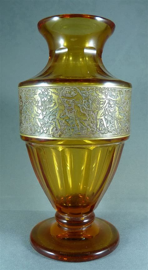 Moser Vase by A Moser Karlsbad Oroplastic Vase Collectors Weekly