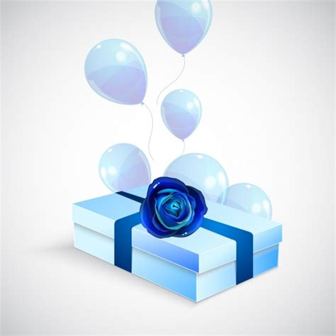 Kartu Ucapan 3d Timbul 4d Happy Birthday Gift Card Greeting Card 3d gift box background blue design shiny balloon ornament free vector in adobe illustrator ai