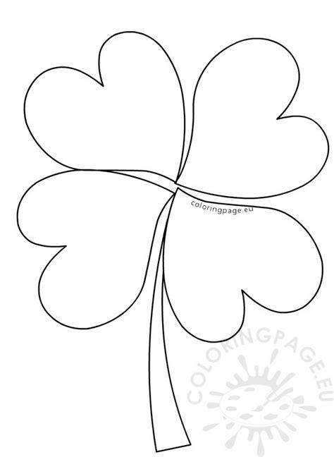 clover leaf pattern horses large four leaf clover pattern preschool coloring page