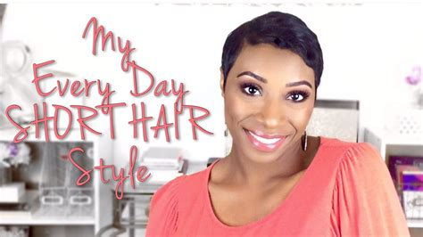 hair style for every day people with large forehead my every day hair style 2016 short hair youtube