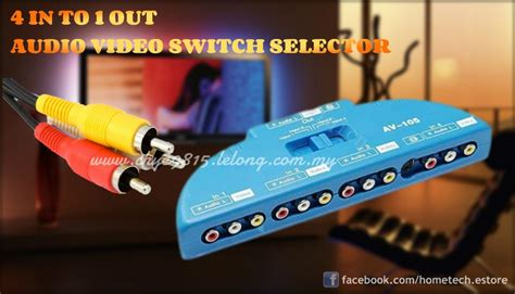 Promo Promo Promo 3 Way Av Switcher Selector Multi Av Switch Merk Suoe rca 3 av 4 in to 1 out audio s end 2 9 2019 10 15 pm