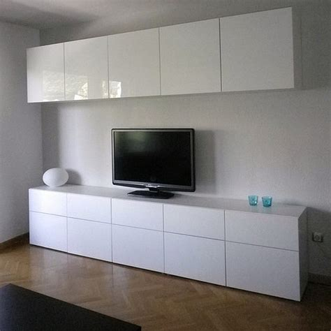 ikea besta living room ikea besta cabinets with high gloss doors in living room minimalist desk design ideas