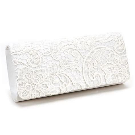 floral lace handbag evening clutch bag bridal purse black white navy blue ebay