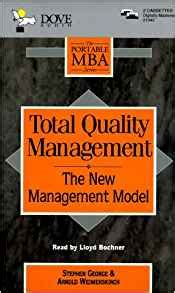 Mba Quality Management by Total Quality Management The New Management Model