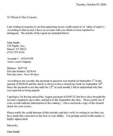 credit dispute letter template printable
