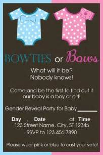 bowties or bows inspiration for a gender reveal invitation baby announcement ideas