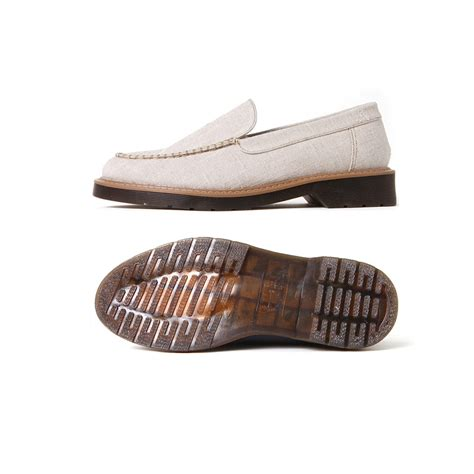 mens loafers rubber soles s synthetic fabric rubber sole navy beige casual loafers