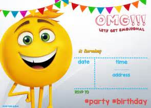 Birthday Invitations Templates Free Printable by Free Printable Emoji Invitation Template Drevio