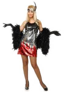 flapper costume halloween city red silver black sequin flapper costume dazzling 1920s
