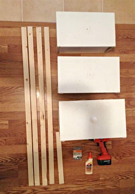 Hometalk   DIY Ladder Shelf From Old Repurposed Drawers