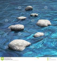 Zen Design Concept river with seven stones water scene stock photos image