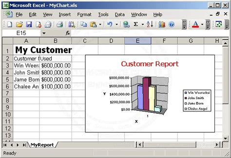design excel application asp charts graph export to xml excel application