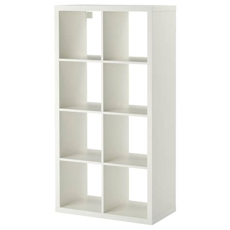 ikea cube shelving ikea kallax 8 cube storage bookcase rectangle shelving unit white