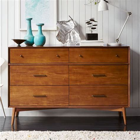 What Is A Dresser Called by Mid Century 6 Drawer Dresser Acorn West Elm
