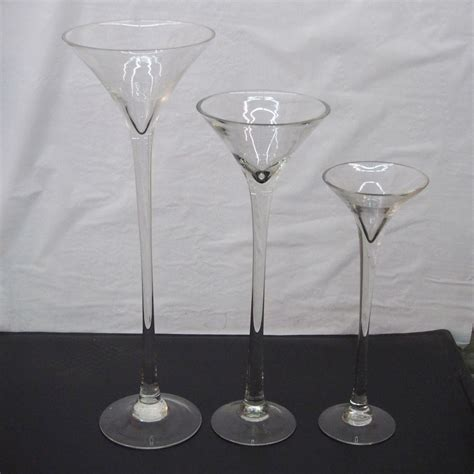 Tall Martini Glass Vase Wedding Table Centerpiece 16 Quot 20 Glass Vase Table Centerpieces