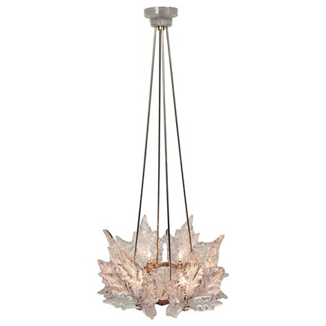 lalique chandelier lalique quot chs elysees quot one tier chandelier at 1stdibs
