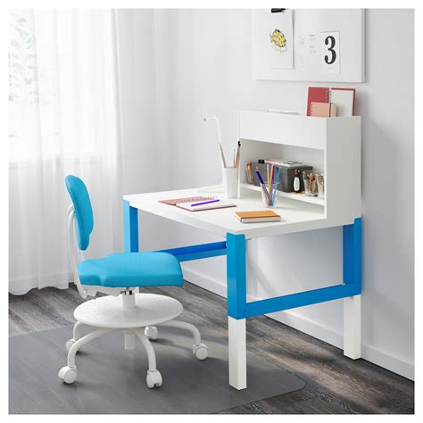 ikea pahl p 197 hl desk with add on unit white blue 96x58 cm ikea