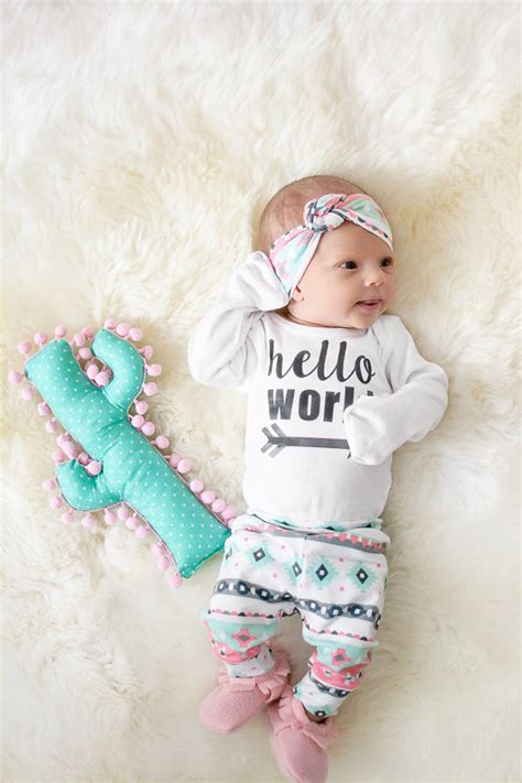 Is Going To A Baby by Baby Coming Home Ready To Ship Pink Mint Charcoal