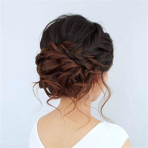 Formal Hairstyles For Hair by Unique Bridesmaid Updos For Medium Length Hair Prom