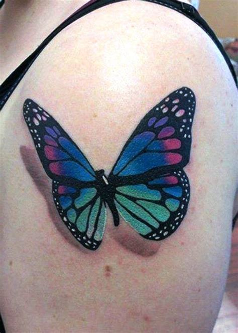 butterfly 3d tattoos mytattooland 3d butterfly tattoos