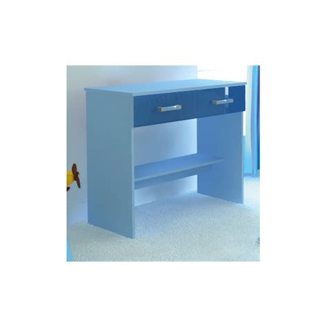 ottawa 2 tones study desk with 2 drawers in blue by